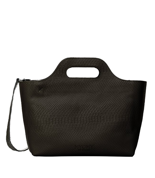 MYOMY My Carry Bag Handbag anaconda black