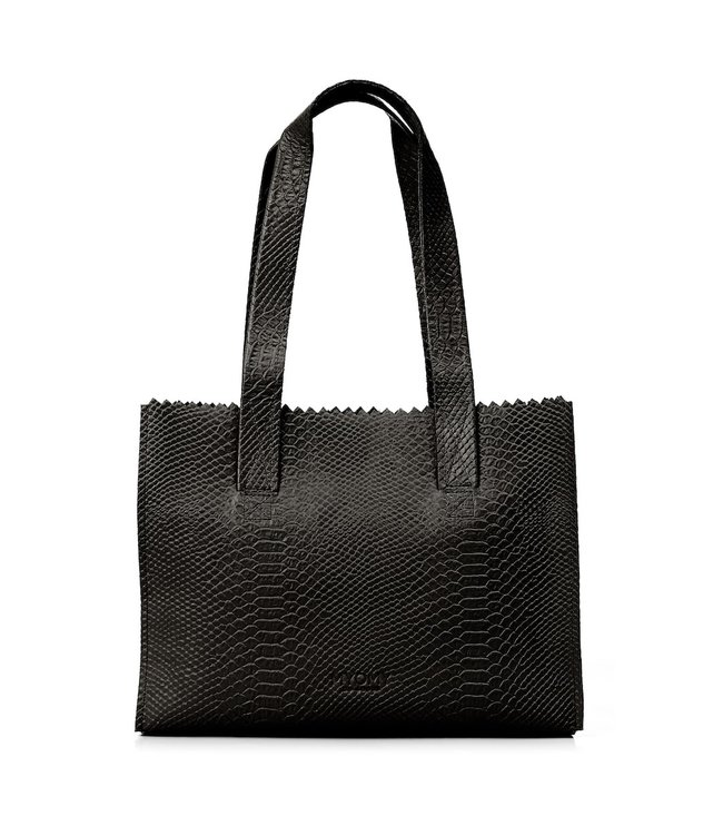 MYOMY MYOMY MY Paper Bag Handbag anaconda black