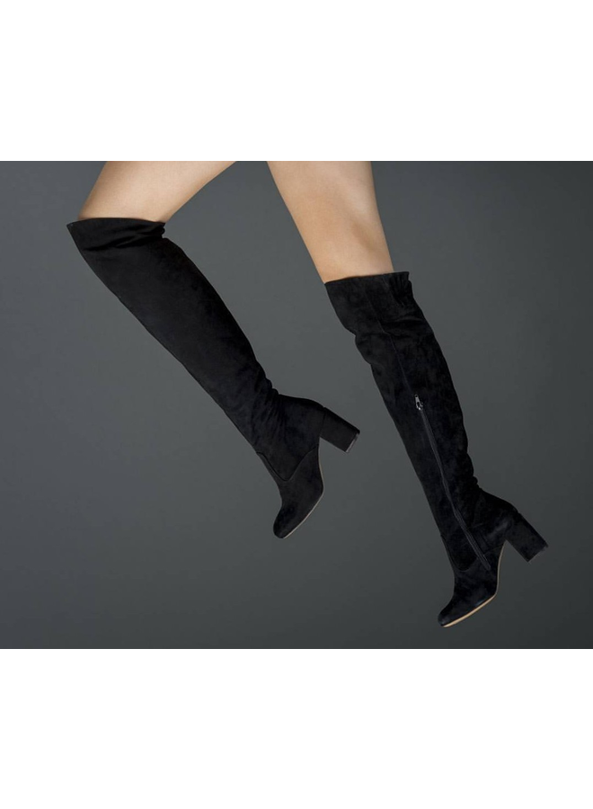 March23 gisele black suede