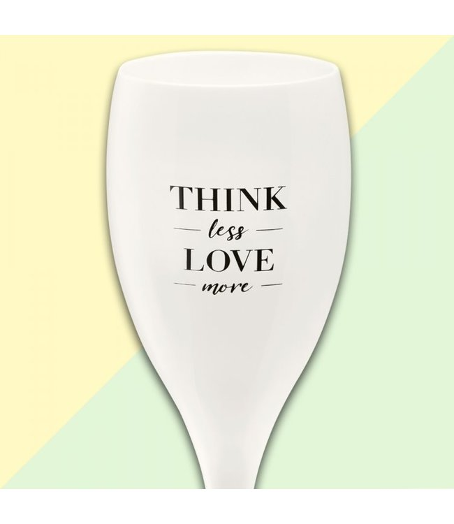 Koziol Kozikol Champagneglas 'Think less love more'
