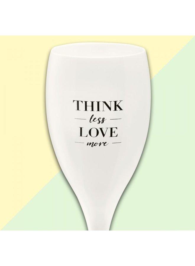 Koziol Champagneglas 'Think less love more'