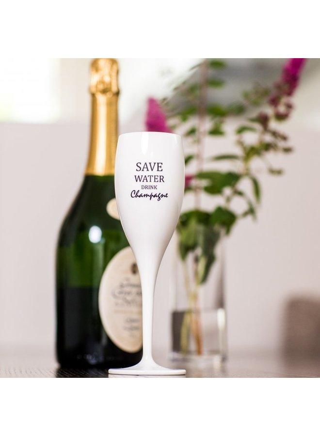 "Koziol Champagneglas ""Save water drink champagne"""