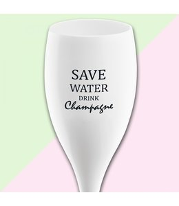 """Koziol Kozikol Champagneglas """"Save water drink champagne"""""""