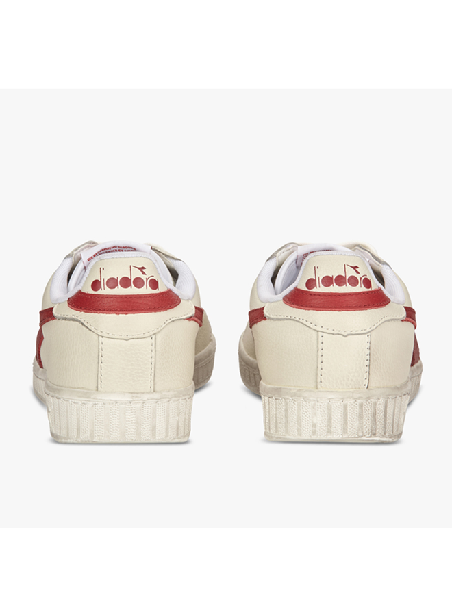 Diadora game l low waxed white red pepper