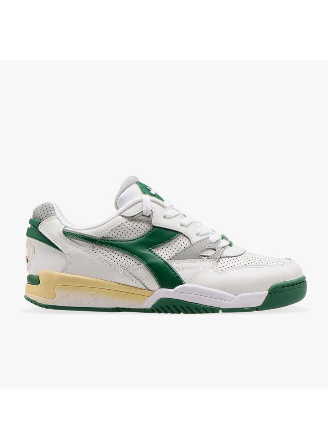 Diadora white/verdant green/ash maat 45!