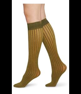 Swedish stockings Hilda Shimmery Socks Gold