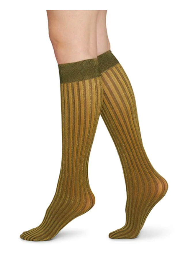 Hilda Shimmery Socks Gold