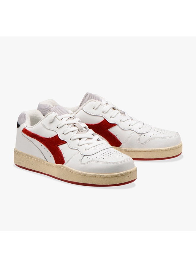 Diadora mi basket low used white/tango red