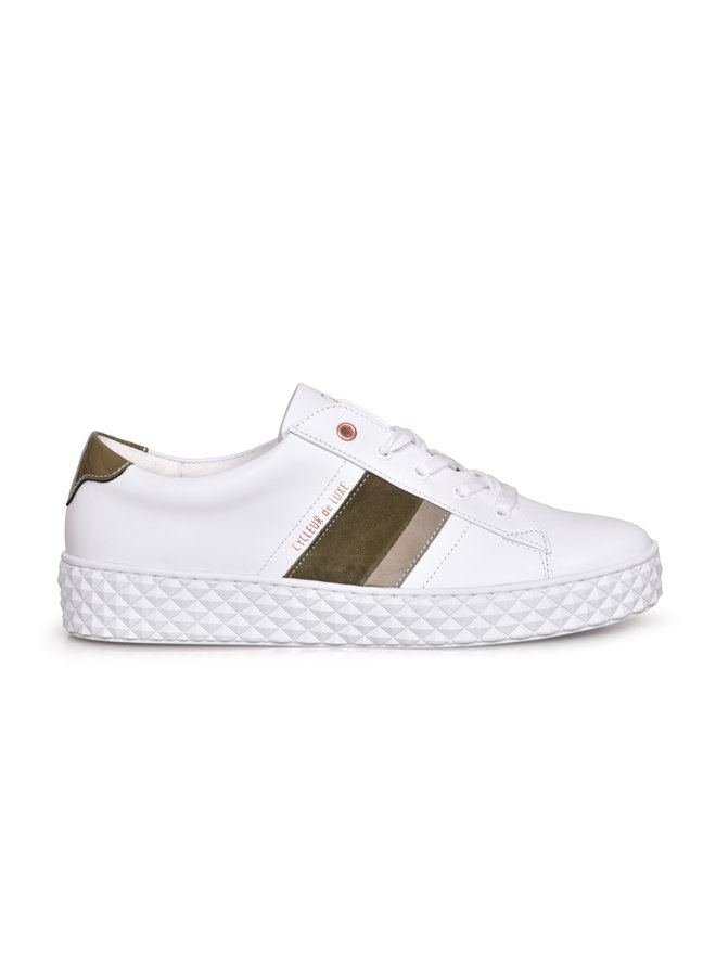 Cycleur de luxe pica white/burnt olive