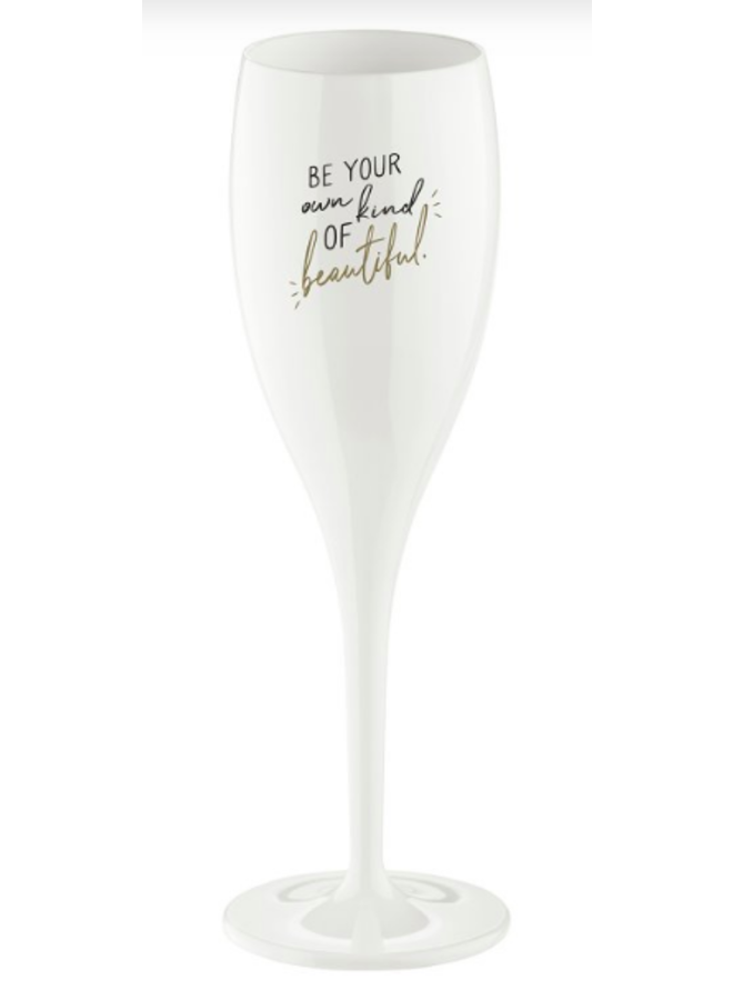 "Koziol Champagneglas ""Be your own kind of beautiful"""