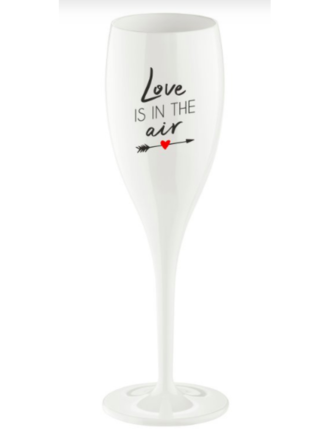"""Koziol Champagneglas """"Love is in the air"""""""