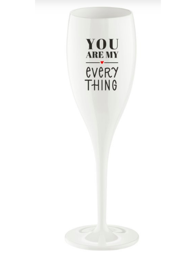 """Koziol Champagneglas """"You are my evertything"""""""