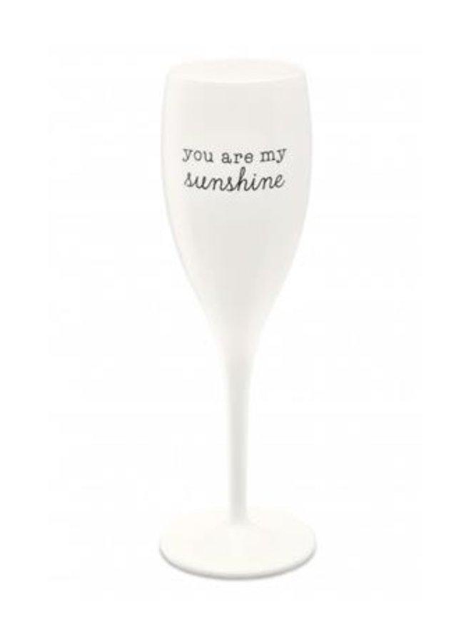 "Koziol Champagneglas ""You are my sunshine"""