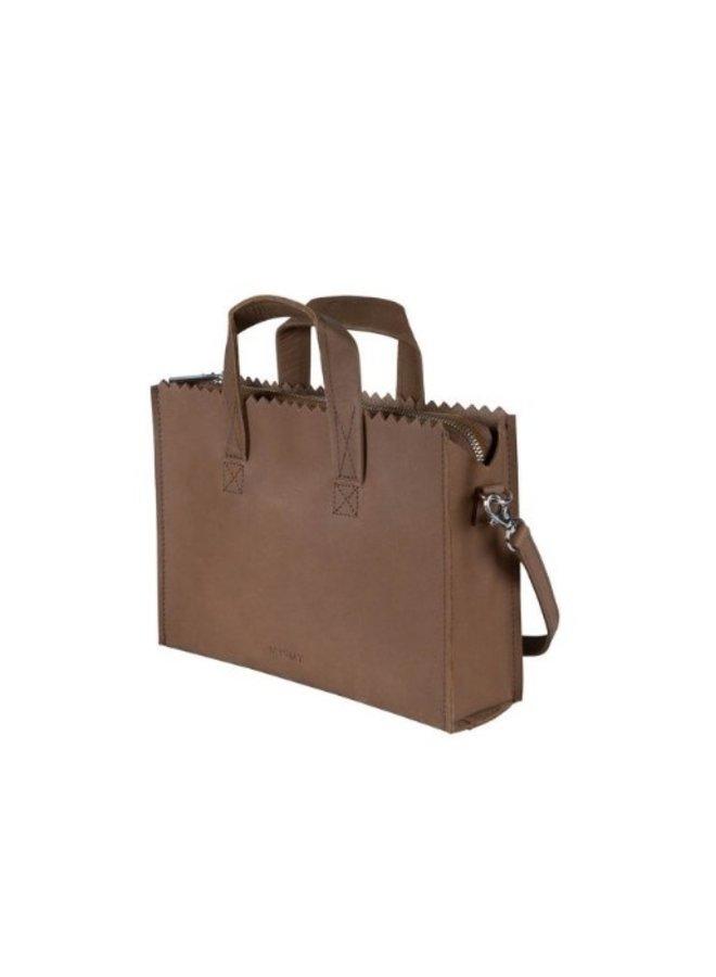 Myomy 10760001 My Paper Bag Handbag mini Hunter Mid Brown