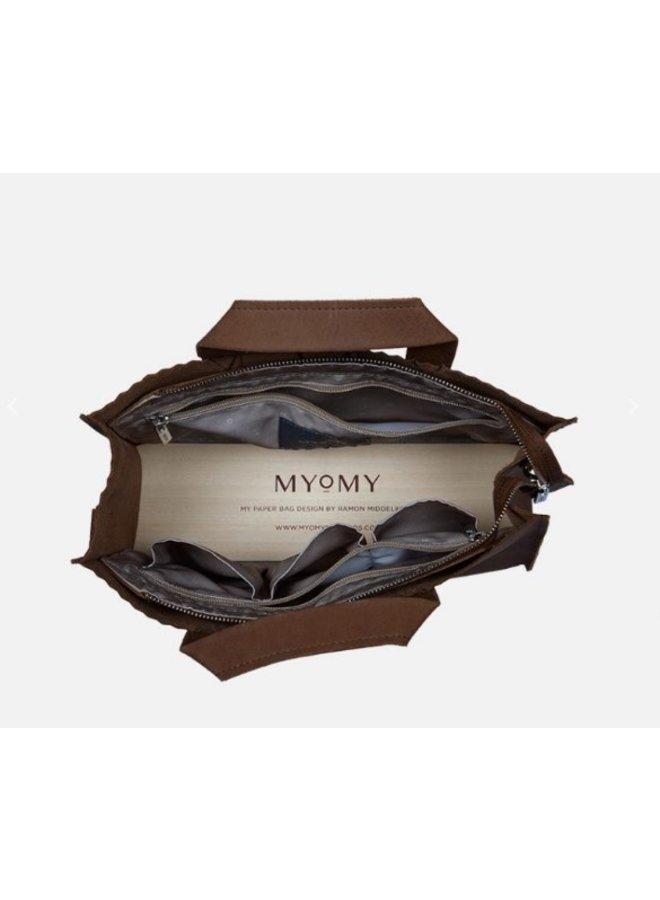 Myomy My Paper Bag Handbag cross-body Hunter Mid Brown