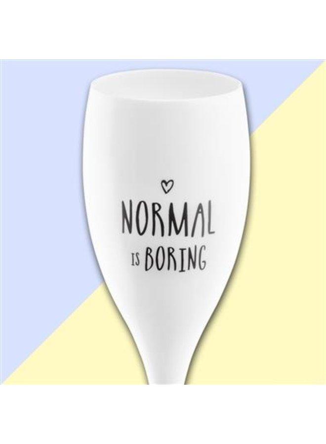 "Koziol Champagneglas ""Normal is boring"""