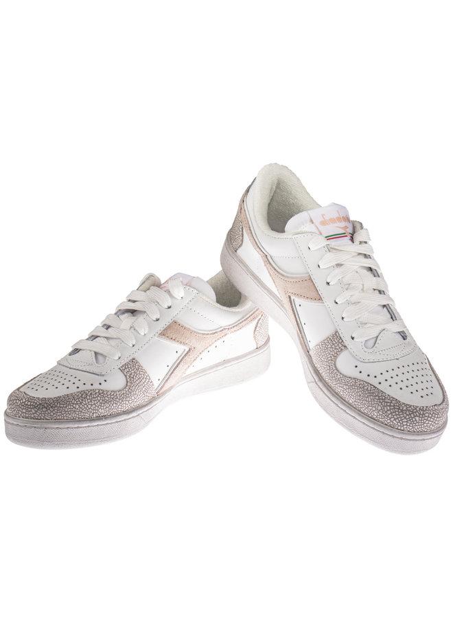 Diadora magic basket low icona white/pastel rose tan