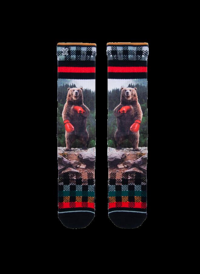 Xpoos socks boxing bear