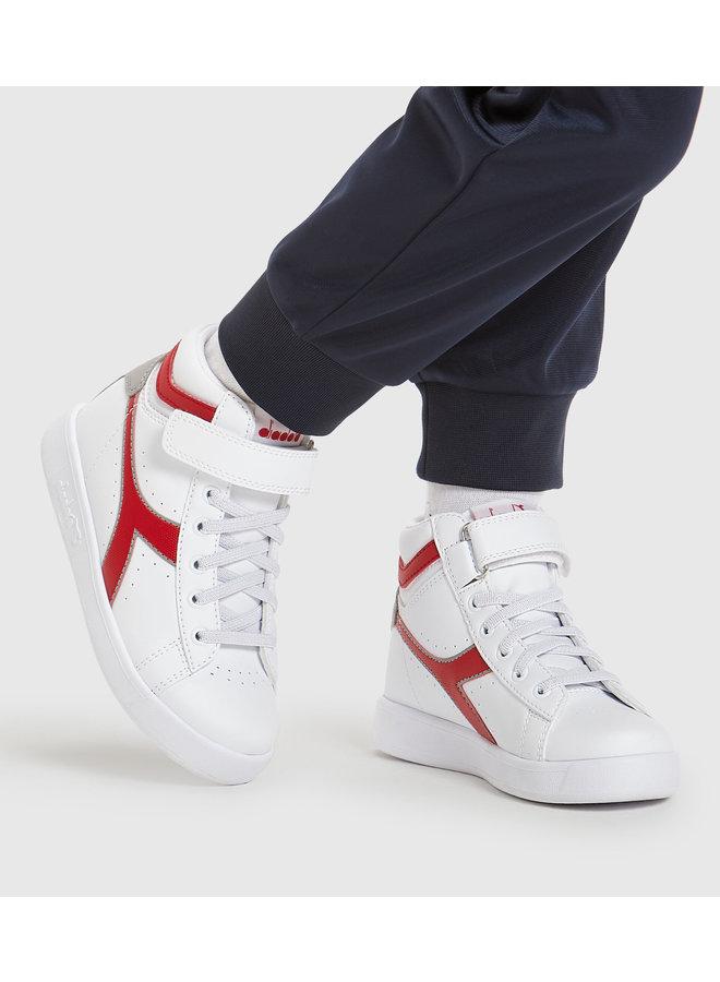 Diadora Game P High PS White/Tango Red