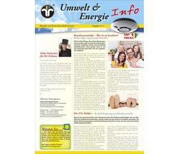 Umwelt & Energie Info 8 Version 2 Rauchwarnmelder, Co-Melder, EnEV 2014, Energiespartipps
