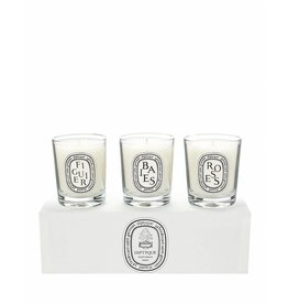 Diptyque Set of Mini Candles (Baies Figuier Roses)