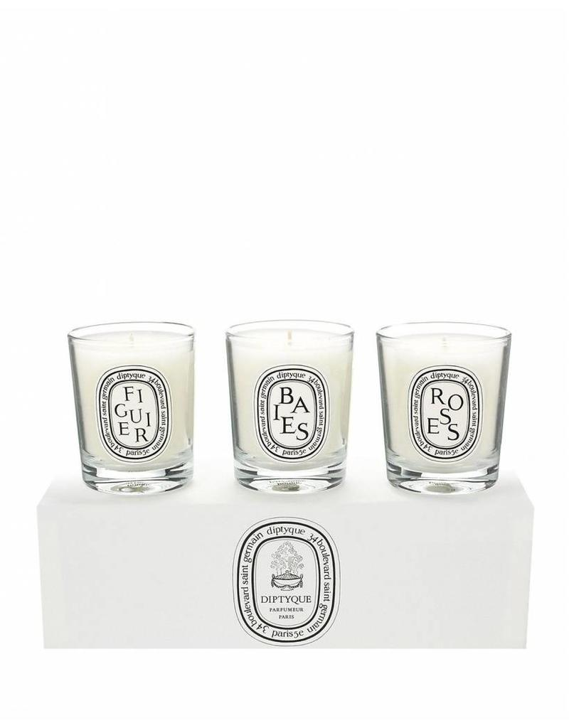 Diptyque Diptyque | Set of Mini Candles (Baies Figuier Roses)Set of mini candles Baies Figuier Roses (3x70g )