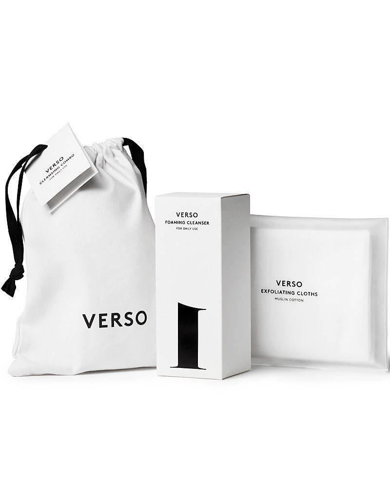 Verso Verso   Cleansing Combo Foaming Cleanser + Exfoliating Cloths