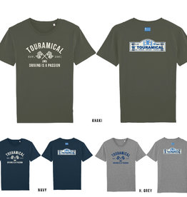 TOURAMICAL THREE T-SHIRTS: KHAKI, NAVY AND HEATHER GREY