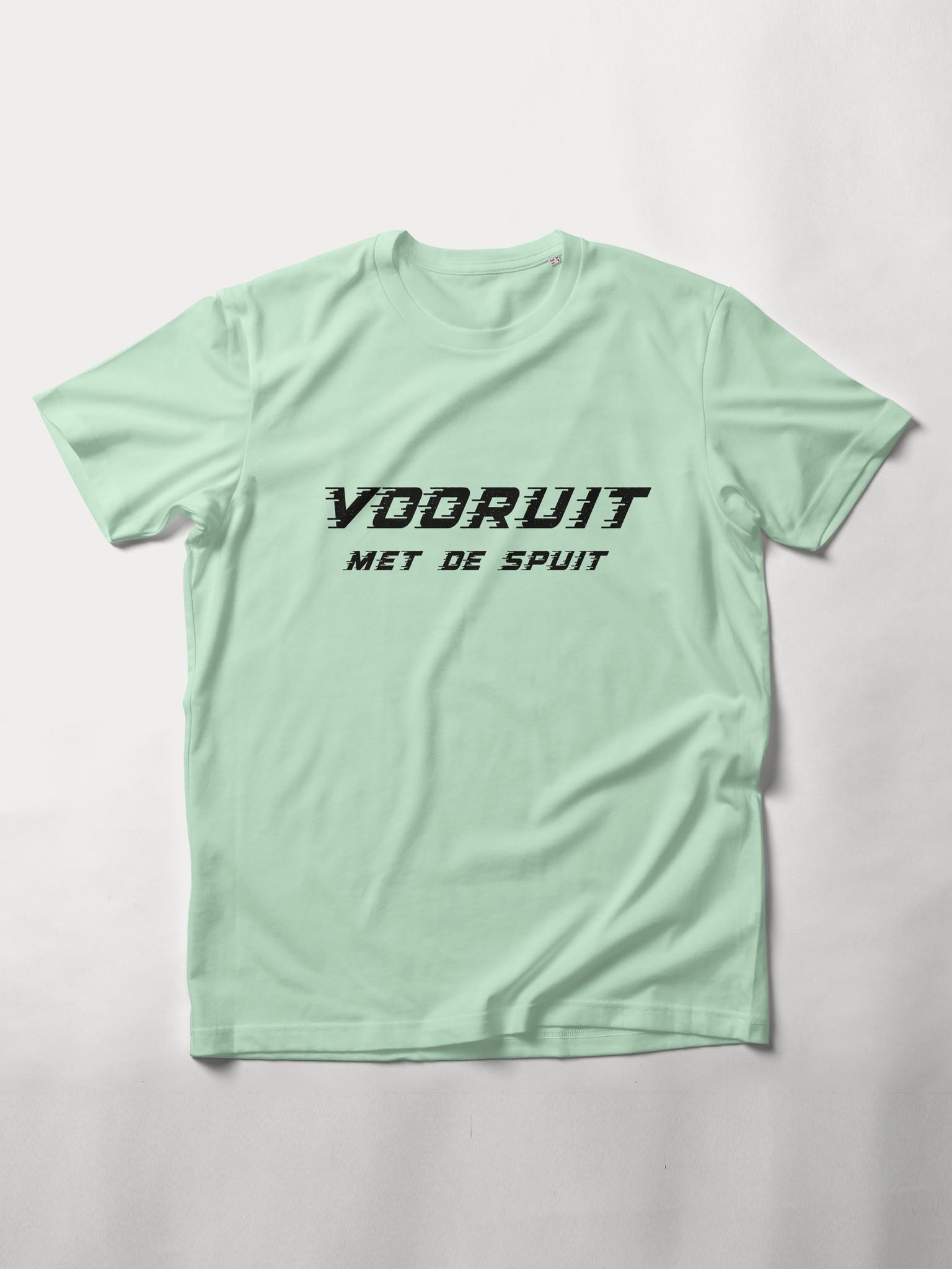 MYSHIRT VOORUIT MET DE SPUIT T-SHIRT STEM GREEN