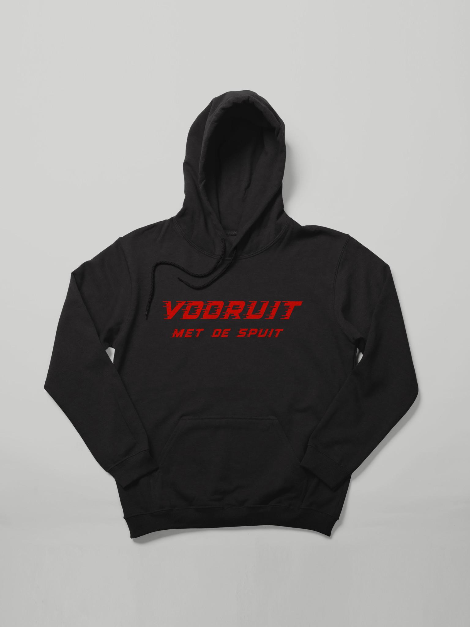 MYSHIRT VOORUIT MET  DE SPUIT HOODIE BLACK