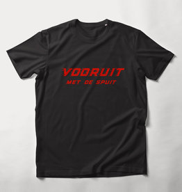 MYSHIRT VOORUIT MET DE SPUIT  T-SHIRT BLACK