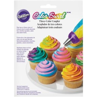 Wilton Wilton ColorSwirl Tri-Color Large Coupler