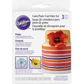 Wilton Wilton Gum Paste Cut Outs -Klaproos- set/3