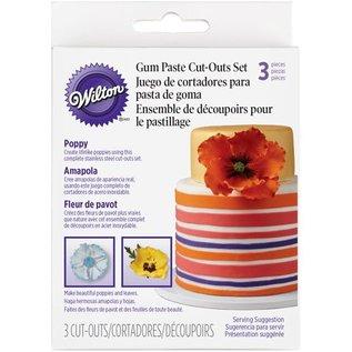 Wilton Wilton Gum Paste Cut Outs -Klaproos- set/3