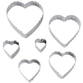 Wilton Wilton Double Cut-Outs Heart Set/6
