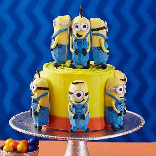 Fabulous Wilton Mini Cake Pan Delectovals Minions Sweetycakeshop Personalised Birthday Cards Cominlily Jamesorg