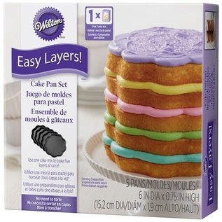 Wilton Wilton Scalloped Bloem Cake Pan Easy Layers -15cm- Set/5