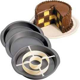 Wilton Wilton Checkerboard Cake Round Set/4