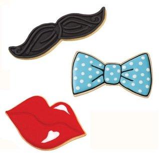 Wilton Wilton Cookie Cutter Set Tie/Mustache/Lips