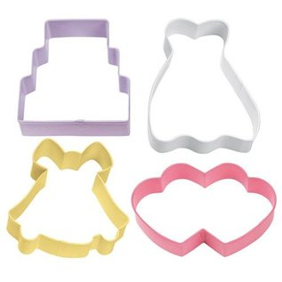 Wilton Wilton Cookie Cutter Wedding Theme set/4