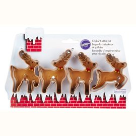 Wilton Wilton Cookie Cutter Set Mini Reindeer