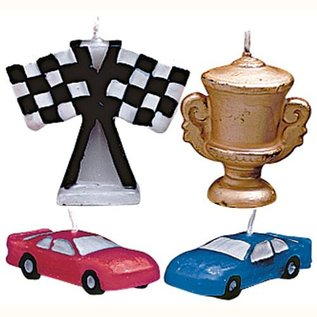 Wilton Wilton Candle Set Race Cars set/4