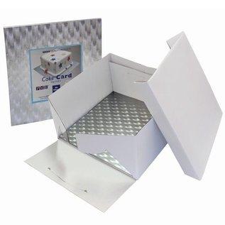 PME PME Taartdoos & vierkant Cakeboard 3mm 25x25x15 cm