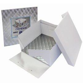 PME PME Taartdoos & vierkant Cakeboard 3mm 30x30x15 cm