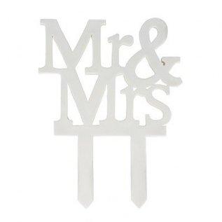 Culpitt Taart topper Mr&Mrs 'eetbaar'