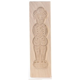 Speculaasplank Medium Pop Man / Piet 20x5,5cm.