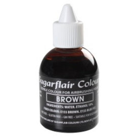 sugarflair Sugarflair Airbrush Colouring -Brown- 60ml