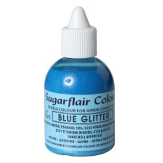 sugarflair Sugarflair Airbrush Colouring -Glitter Blue- 60 ml