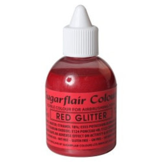 sugarflair Sugarflair Airbrush Colouring -Glitter Red- 60 ml