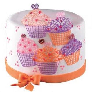 Silikomart Silikomart Wonder Cakes Silicone Mat -Cupcakes-